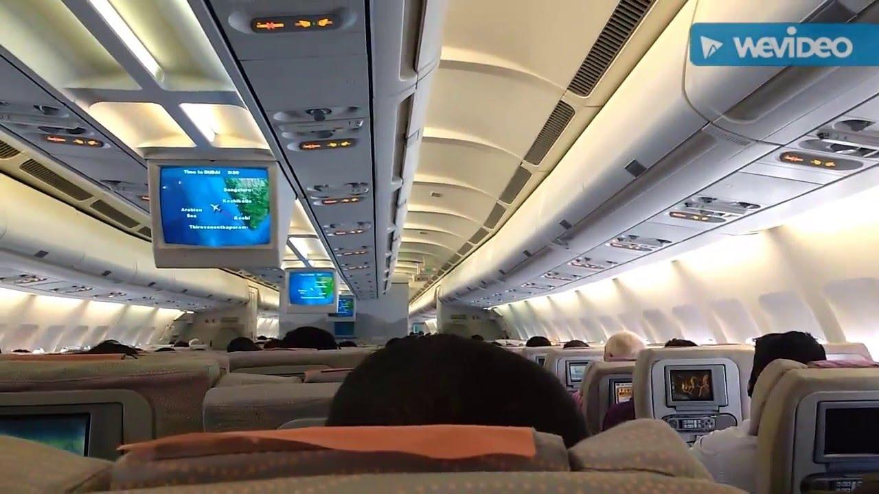 Emirates A330 Flight Inside