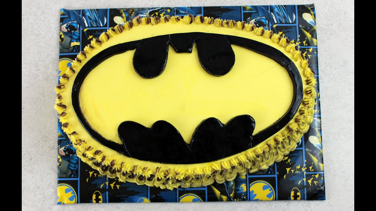 BATMAN - Bat Symbol Cake (How To) - YouTube