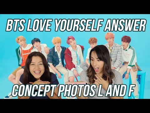 BTS 방탄소년단 LOVE YOURSELF 結 'Answer' Concept Photo Ver. L and F REACTION