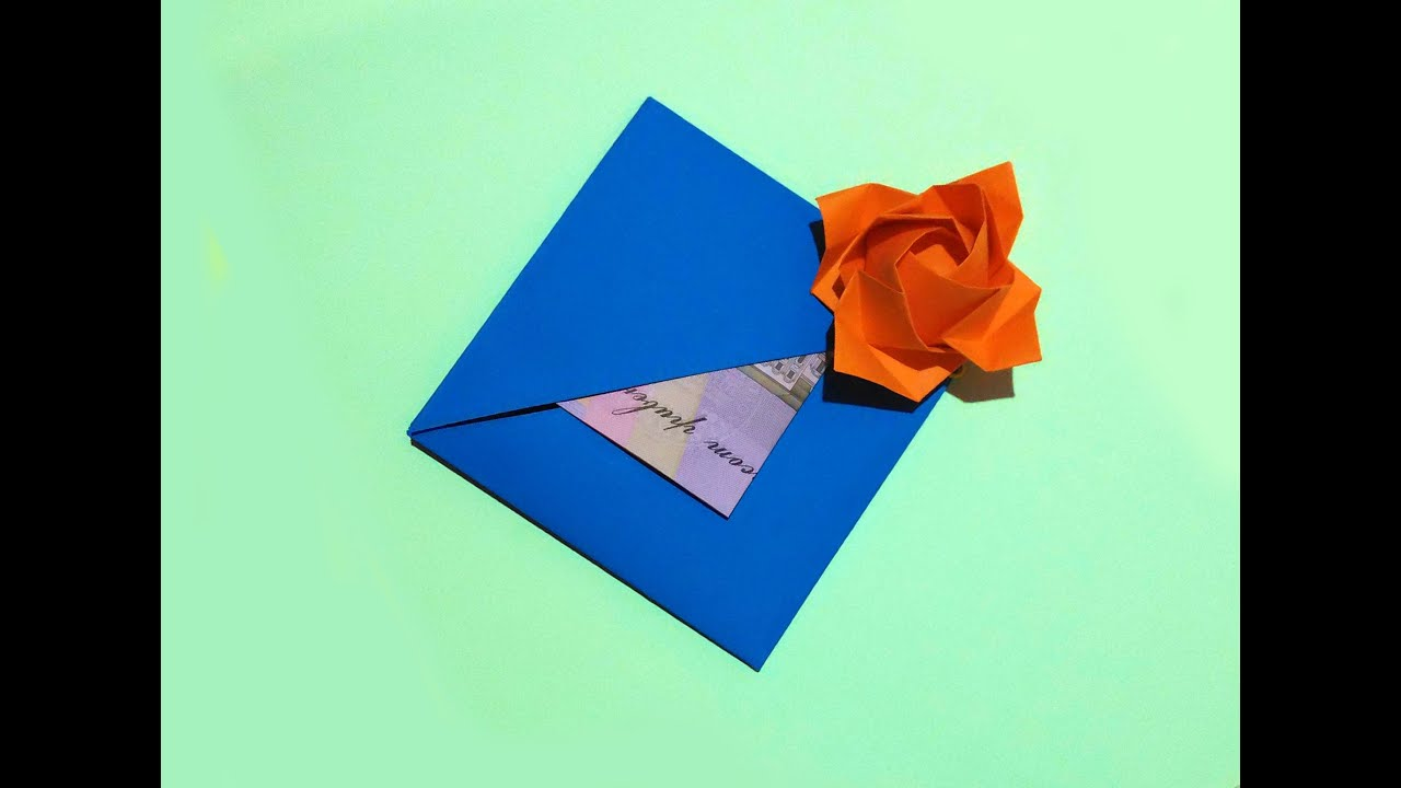 Easy gift card with flower and secret message inside origami card easy gift card with flower and secret message inside origami card ideas for gift youtube jeuxipadfo Image collections