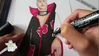 How to draw Hidan 飛段