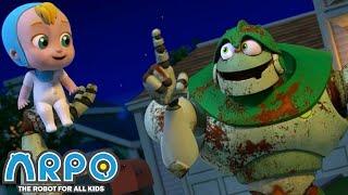 Arpo the Robot | Night Time TERRORS  ARPO the ZOMBIE!  | Funny Cartoons for Kids | Arpo and Daniel