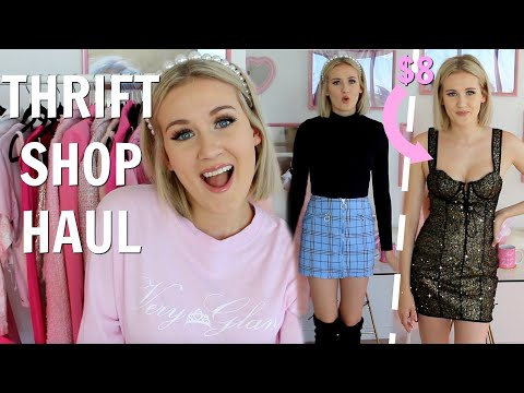 I FINALLY WENT THRIFT SHOPPING INSTEAD OF SHOPPING ONLINE! A VERY GLAM & EXTRA THRIFT STORE HAUL!