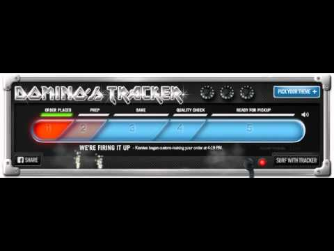 Dominos pizza online tracker metal theme