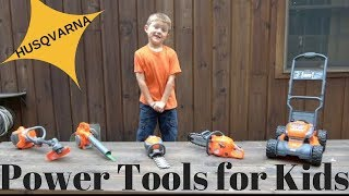 THE LITTLE GARDENER - Husqvarna  Kids Power Tools Lawn Equipment Playset thumbnail