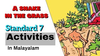 a snake in the grass activities standard 7 in Malayalam