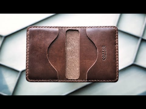 Making A Simple Leather Card Wallet (Free Pattern!)