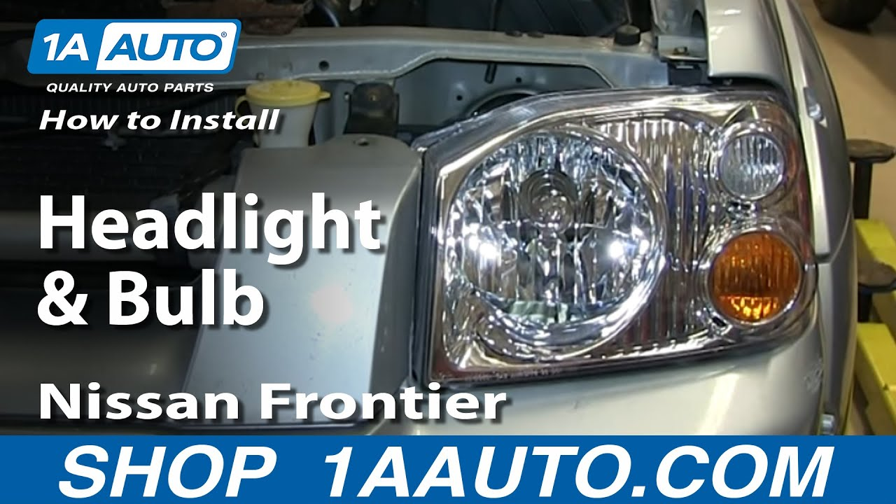 2000 nissan pathfinder headlight assembly removal