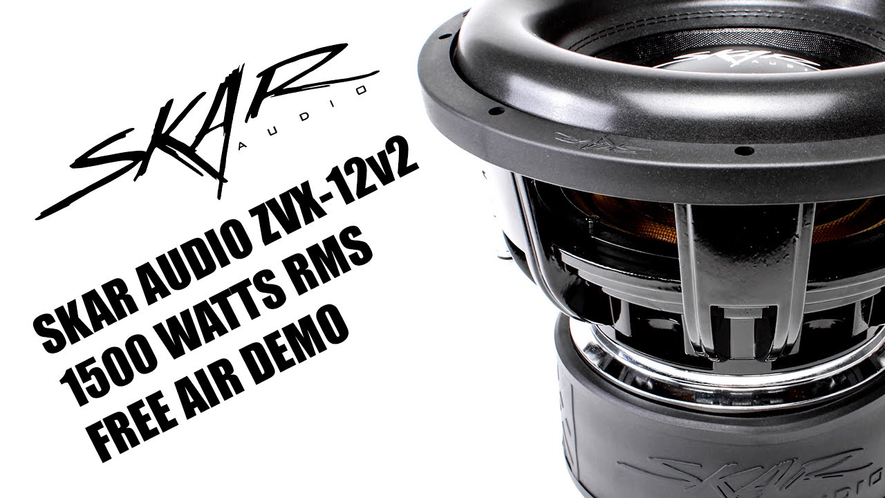 Skar Audio Zvx 12v2 1500 Watts Rms 12 Subwoofer Free Air Demo Dual 2 Ohm Wiring Youtube