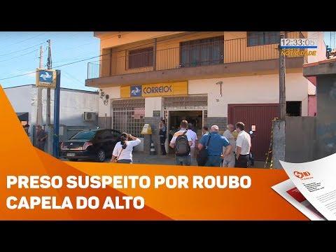 Preso suspeito por roubo em Capela do Alto - TV SOROCABA/SBT