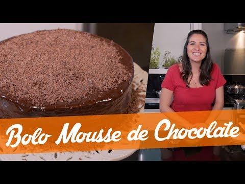 BOLO MOUSSE DE CHOCOLATE - Carol Fiorentino