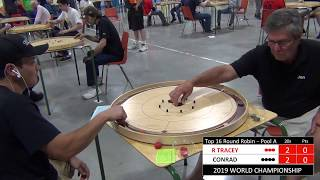 2019 World Crokinole Championship - Top 16 - Conrad v Tracey