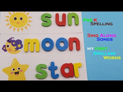 Sing Along Spelling Words, Pre-K Learning Resources Musical Activities. Part 1