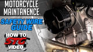 How To Safety Wire a Motorcycle for Track Day Riding from SportbikeTrackGear.com