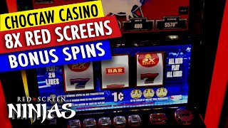 VGT SLOTS  - PBR MAX BET MULTIPLES 8X RED SCREENS WITH BONUS!!! CHOCTAW CASINO DURANT
