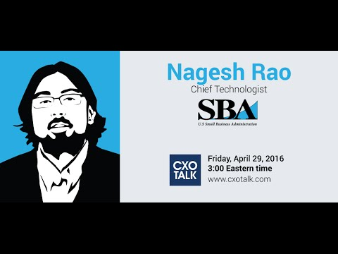 #169: Funding Technology Innovation with Nagesh Rao, Chief Technologist, SBA