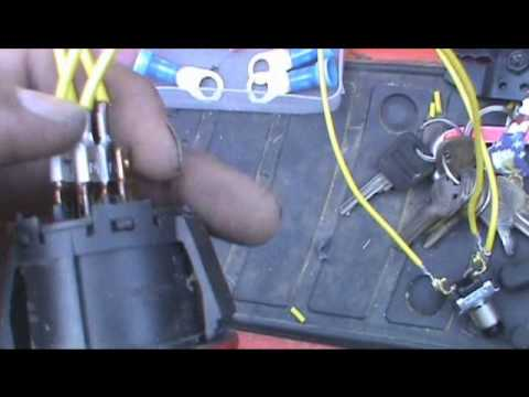 push mower wiring diagram generator transfer switch how to wire a button starter for your lawn youtube
