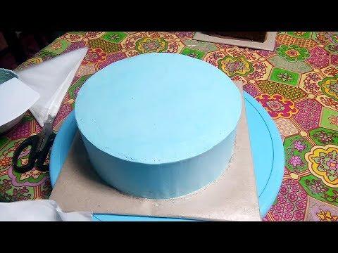 CARA MUDAH MENUTUPI CAKE DENGAN BUTTER CREAM