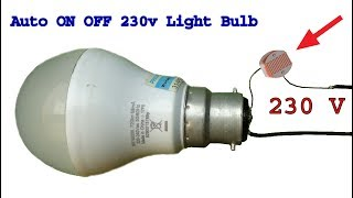 How to make 230 v Auto ON OFF light bulb circuit, diy Dark sensor thumbnail
