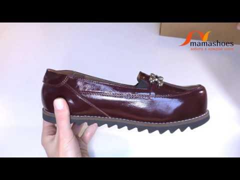 Женские туфли без каблука из бордового лака модель Бианка Канзас от Мамашуз