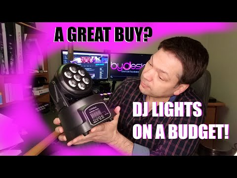 Mini Moving Head,  7x10W, Lixada, Cheap DJ Light Review!