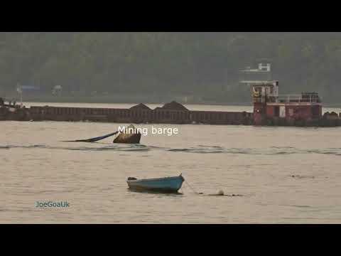 Mandovi river, Mining barge etc 1 11 18