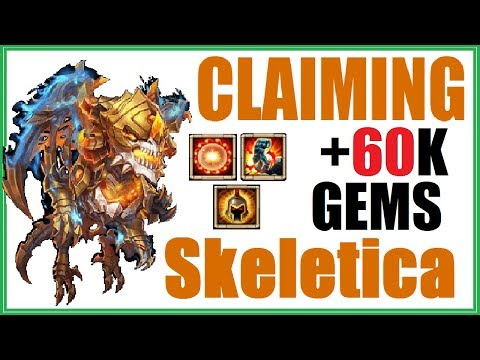 Claiming SKELETICA + Events + 60,000 Gems for EVERYTHING! Castle Clash