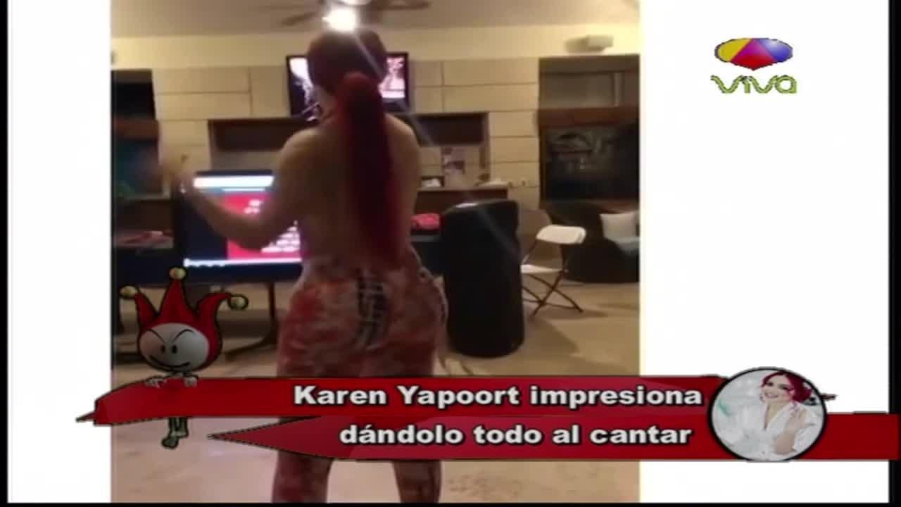 Karen Yapoort impresiona dándolo todo al cantar - tremenda