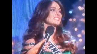 Respuesta de Miss Venezuela Irene Esser en el Miss Universo 2012