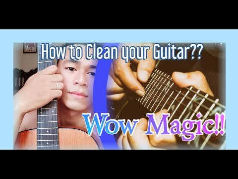 How to clean a electric guitar