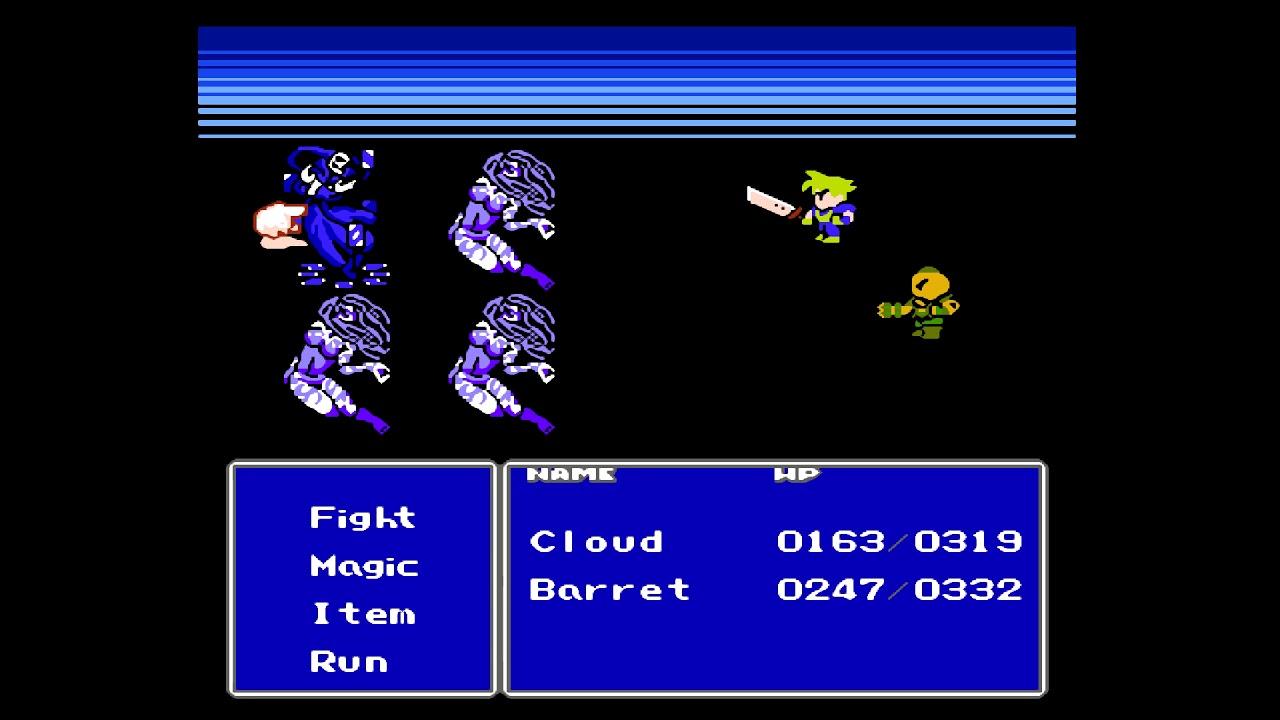 Final Fantasy Vii Nes Demake Gameplay Youtube