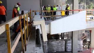 Precast Concrete Panel Installation At Entry