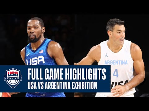 USA vs. Argentina EXHIBITION | FULL GAME HIGHLIGHTS | JULY 13, 2021