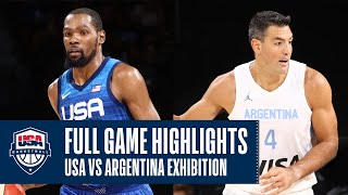 USA vs. Argentina EXHIḂITION | FULL GAME HIGHLIGHTS | JULY 13, 2021