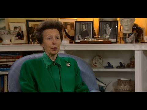 Princess Anne on the Royal Newfoundland Regiment