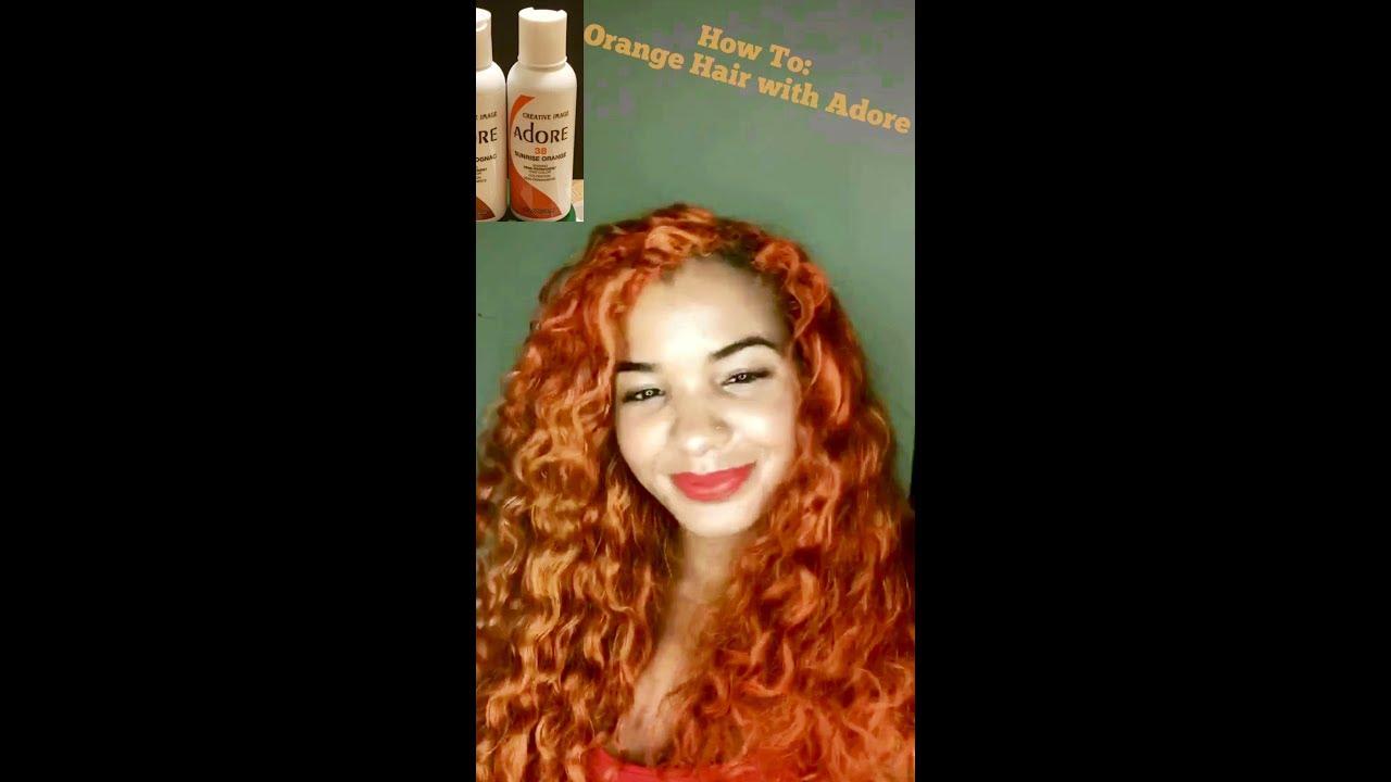 Diy Orange Hair With Adore Sunrise Orange And Adore French Cognac