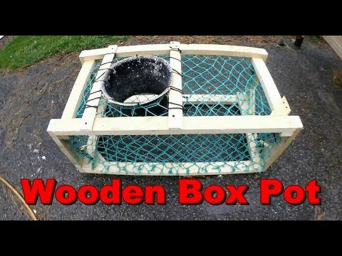 How To Make A Wooden Crab Pot, Lobster Trap Fast & Cheap + Fishing Update.