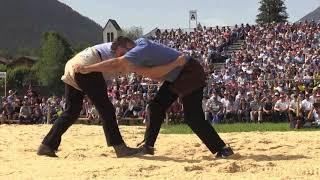 Schlussgang Oberländisches Schwingfest 2018 Lenk