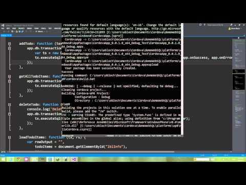 New Cross Platform Cordova WebSQL plugin by MS Open Tech