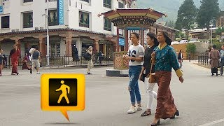 Pedestrian Day as seen in Thimphu (Bhutan) City 07th June 2017