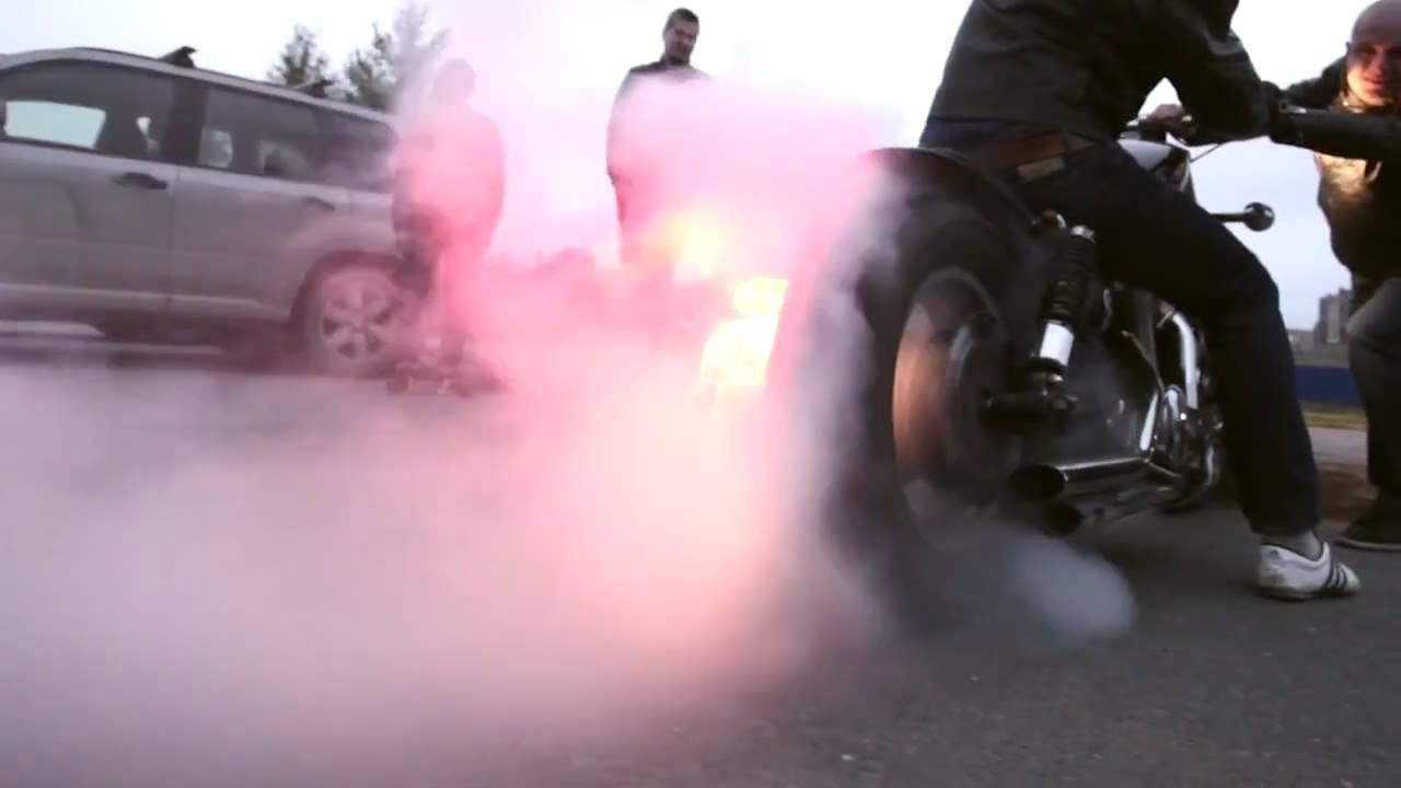 Suzuki vs1400 intruder burnout  Jardine exhaust