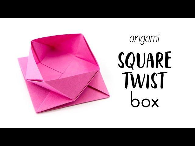 Origami Square Twist Box / Pot Tutorial - Paper Kawaii