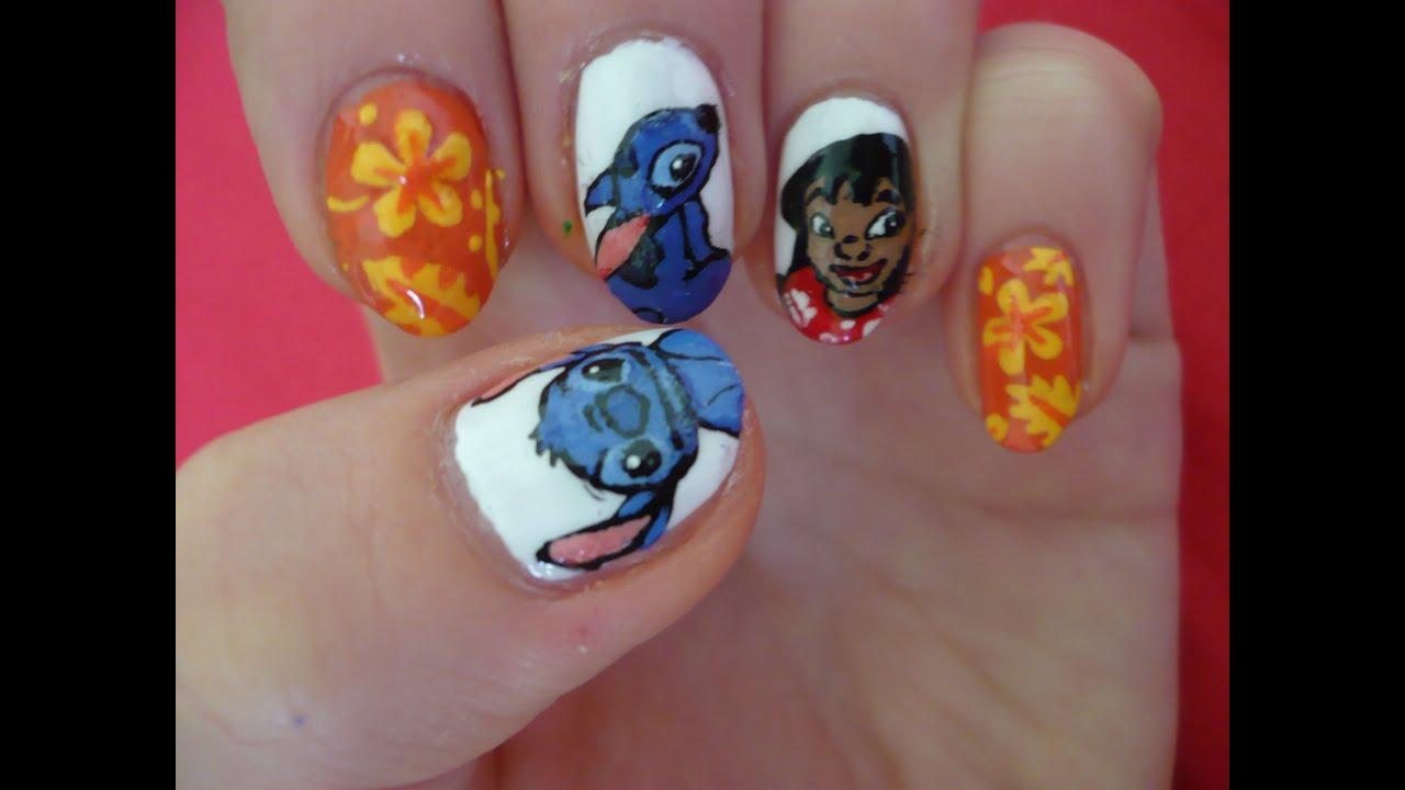 lilo & stitch nail art