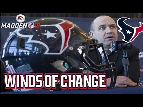 Madden NFL 18 Houston Texans Franchise - Offseason Episode 1: Winds of Change