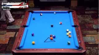 2012 CSI U.S. Bar Table Championships 8 Ball Division Finals: Beckley vs Saez Part 1