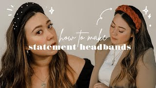 DIY puffy, padded & braided headbands! from upcycled materials ♻️