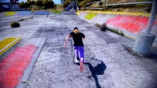 Skate Girl learning how to play Skate 3