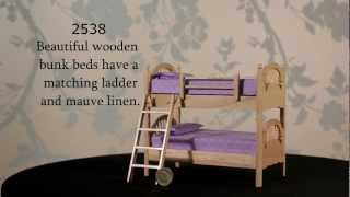 2538 Pine Bunk Beds With Ladder