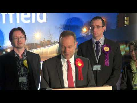 Paul Blomfield's victory speech and interview