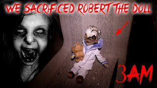 24 HOUR OVERNIGHT CHALLENGE WE SACRIFICED ROBERT THE DOLL IN THE HAUNTED PRISON (GONE WRONG)